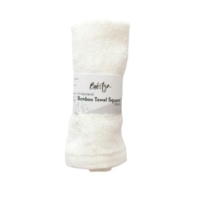 BAMBOO TOWEL SQUARE WHITE