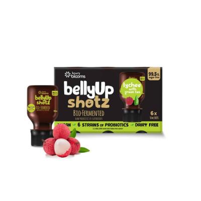 BELLYUP SHOTZ BIO FERMENTED LYCHEE WITH GREEN TEA 6 x 50ml
