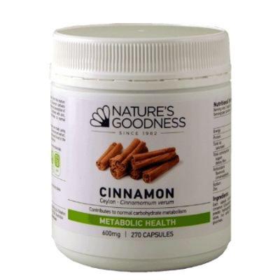 CINNAMON 600mg 270Caps Cinnamon (Cinnamomum verum)