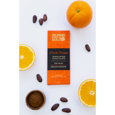 DARK CHOCOLATE ORANGE 70% CACAO 55g (BX12)