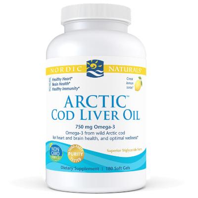 LEMON ARCTIC COD LIVER OIL 180 Caps *TEMP UNAVAILABLE* Fish Oils