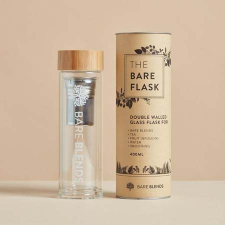 THE BARE FLASK - DOUBLE WALLED GLASS 400ml