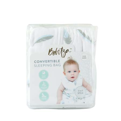 CONVERTIBLE SLEEPING BAG FEATHER 12-24mths