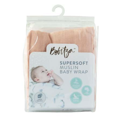 SUPERSOFT MUSLIN BABY WRAP ROSE PINK