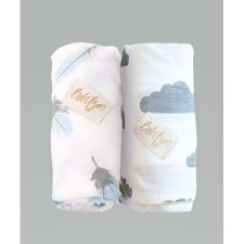 ANTIBACTERIAL BAMBOO BABY WRAP 2PACK CLOUD/FEATHER
