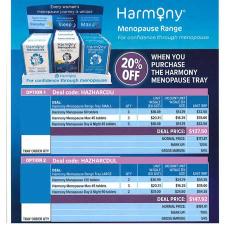 HARMONY MENOPAUSE RANGE LARGE TRAY