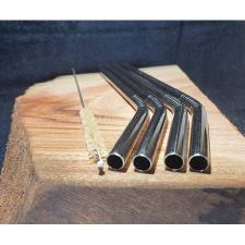304 STAINLESS STEEL STRAWS 8ml BENT 10Pk LOOSE