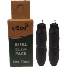 DENTAL FLOSS BAMBOO CHARCOAL TWIN PACK REFILL 2X30M (BX8)