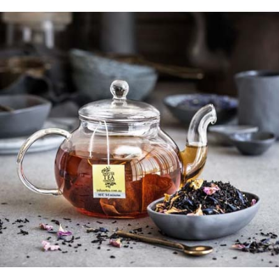 FRENCH EARL GREY WITH ROSE PETALS LOOSE LEAF 100g (BX8)