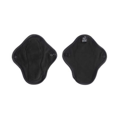 BLACK ORGANIC COTTON MINI CLOTH PAD