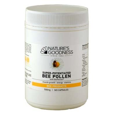 SUPER-POTENTIATED BEE POLLEN 500mg 365Caps