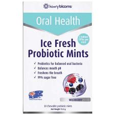 ICE FRESH PROBIOTIC CHEWABLE MINTS 30Pk - WILDBERRY FLAVOUR