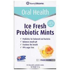 ICE FRESH PROBIOTIC CHEWABLE MINTS 30Pk - PEACH OOLONG FLAV