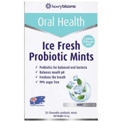 ICE FRESH PROBIOTIC CHEWABLE MINTS 30Pk - MINT FLAVOUR