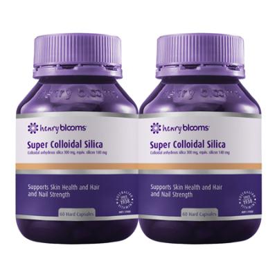 SUPER COLLOIDAL SILICA 60Caps TWIN PACK Silicon (Si)
