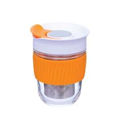ORANGE REUSABLE TEA STRAINER CUP 360ml