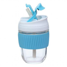 BLUE REUSABLE TRAVEL CUP WITH STRAW 360ml